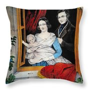 Currier: Marriage, 1848 Throw Pillow