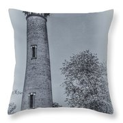 Currituck Beach Lighthouse 2 Throw Pillow