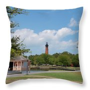 Currituck Lighthouse From Heritage Park Throw Pillow