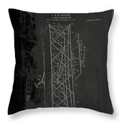 Flying Machine Patent Drawing 1e Throw Pillow