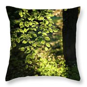 Curtain Of Leaves Throw Pillow