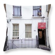 Curtain Twitcher Throw Pillow