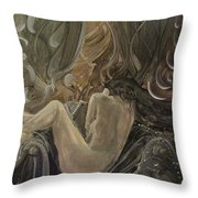 Curtains At Dusk Throw Pillow