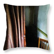 Curtains Closed Throw Pillow