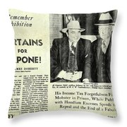 Curtains For Capone Throw Pillow