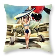 Curtis P-40 Warhawk Throw Pillow