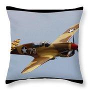 Curtis P-40n Warhawk Throw Pillow
