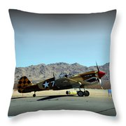 Curtis P40 Warhawk Throw Pillow
