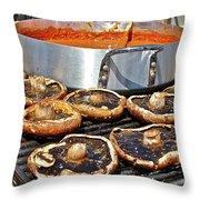Curt's Mushrooms Throw Pillow