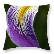 Curve Of An Iris Throw Pillow