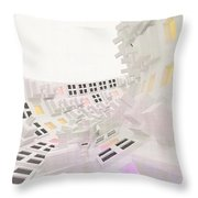 Curve - Round And Round, Abstract Cg Throw Pillow
