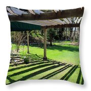 Curved Arbor  Throw Pillow