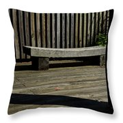 Curved Bench Throw Pillow