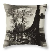Curved Gate Throw Pillow
