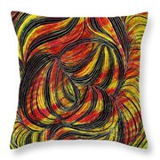 Curved Lines 2 Throw Pillow