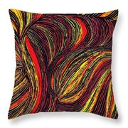 Curved Lines 3 Throw Pillow