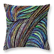 Curved Lines 7 Throw Pillow