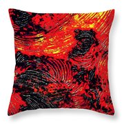 Curved Lines 8 Throw Pillow