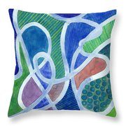 Curved Paths Throw Pillow