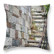 Curved Stone Staircase 235 Throw Pillow