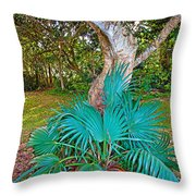 Curves And Fronds Throw Pillow