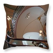 Stairs With Curved Lines Throw Pillow