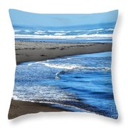 Curves And Waves Throw Pillow