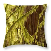 Curves In The Rainforest Throw Pillow