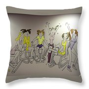 Curves Mural Throw Pillow