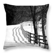 Curving Around The Corner Throw Pillow