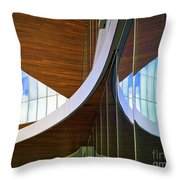 Curving Reflections Throw Pillow
