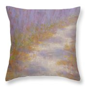 Curving Road, Late Autumn Throw Pillow