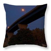 Curvy Bayview Evening -luther Fine Art Throw Pillow