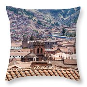 Cusco Cityscape Throw Pillow