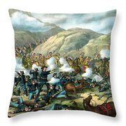 Custer's Last Stand Throw Pillow