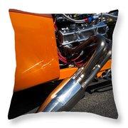 Custom Hot Rod Engine 2 Throw Pillow