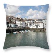 Custom House Quay And Falmouth Parish Church Throw Pillow