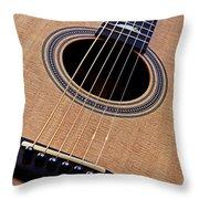 Custom Made Guitar Throw Pillow