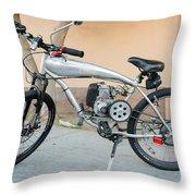 Custom Made Motor Bike Throw Pillow