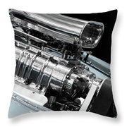 Custom Racing Car Engine Throw Pillow