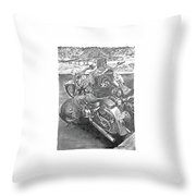 Custom Riders Throw Pillow