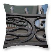 Custom Snake Gate Throw Pillow