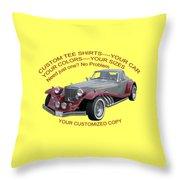 Custom Tee Shirts Throw Pillow