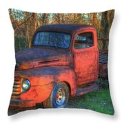 Customized Rust 1949 Ford Pickup Truck Throw Pillow