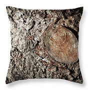 Cut Branch On Tree Trunk Throw Pillow