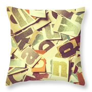 Cut Copy Throw Pillow