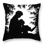 Cut-paper Silhouette Throw Pillow