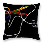 Cut The Mouse Throw Pillow