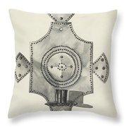 Cut Tin Candle Holder Throw Pillow