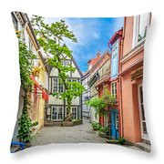 Cute And Colorful European Houses Throw Pillow